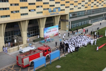 关注消防生命至上三六三医院犀浦院区举行2020年消防综合应急演练